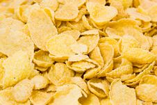 Free Corn Flakes Macro Shot Royalty Free Stock Image - 4130946