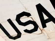 Free USA Wing Text Royalty Free Stock Photos - 4131018