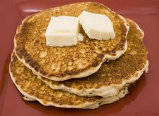 Free Pancakes And Butter Royalty Free Stock Image - 4131076