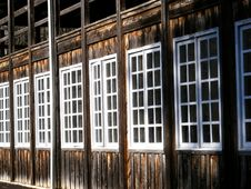 Free Row Of Windows Royalty Free Stock Photo - 4131965