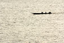 Free Small Boat On A River Royalty Free Stock Photography - 4132647