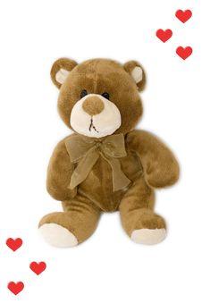 Sad Teddy Bear Stock Photo