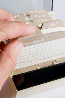 Free Address Card File Stock Photos - 4132803