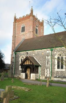 Free English Village Church Stock Photo - 4132840
