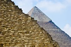 Free Two Great Pyramids In Egypt Stock Photography - 4132922