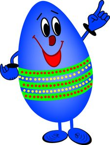 Free Blue Egg Royalty Free Stock Image - 4132986