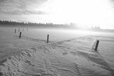 Free Field In Winter Stock Photos - 4133023