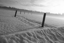 Free Field In Winter Royalty Free Stock Image - 4133036