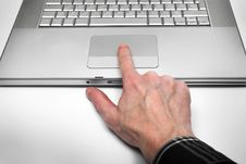 Free Silvery Laptop Royalty Free Stock Photography - 4133047