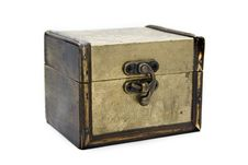 Free Gold Aged Casket Royalty Free Stock Image - 4133136