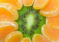 Kiwi And Tangerine Background Stock Photo