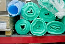 Free Rolls On Racks In A Warehouse Stock Image - 4134791