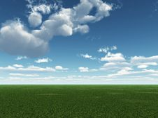 Free Green Field Royalty Free Stock Images - 4135089