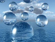 Free Water Balls Royalty Free Stock Photography - 4135097