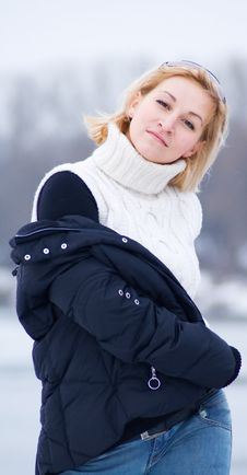 Free Woman With Winter Jacket Stock Photos - 4135113
