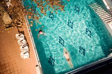 Free Morning Swim In The Public Baths Royalty Free Stock Photography - 4135987