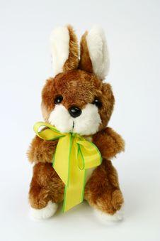 Fluffy Rabbit - Easter Ribbon Stock Images