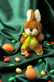 Free Easter Eggs And Bunny Stock Photography - 4136162