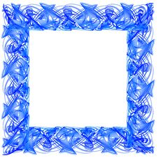 Free Blue Frame Royalty Free Stock Photography - 4136277