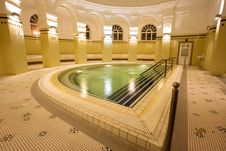 Free Swimming Pool In The Public Baths Royalty Free Stock Photos - 4136288