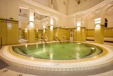 Free Swimming Pool In The Public Baths Stock Photo - 4136340