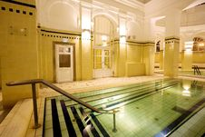 Free Swimming Pool In The Public Baths Royalty Free Stock Image - 4136476