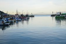 Free Fishing Boats In Harbor Stock Photography - 4136522