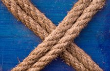Free X Shaped Rope Stock Images - 4136724