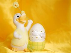 Free Easter Egg And Duck Stock Photography - 4137482