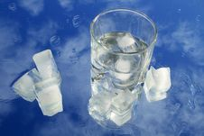 Free Glass Of Water With Ice In Blue Sky Royalty Free Stock Photos - 4137608