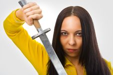 Free Woman With Sword Stock Images - 4138204