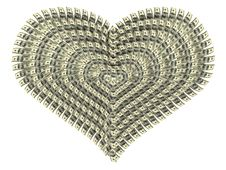 Free Valentine S Heart Made By Dollars Royalty Free Stock Image - 4138686