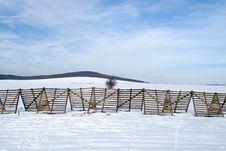 Free Snow-fence. Stock Photo - 4138800