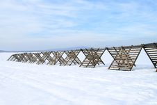 Free Snow-fence. Stock Images - 4138814