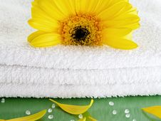 Free Towel Spa White-green-yellow Stock Photography - 4139582