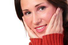 Free Woman In Red Sweater Royalty Free Stock Photography - 4139607