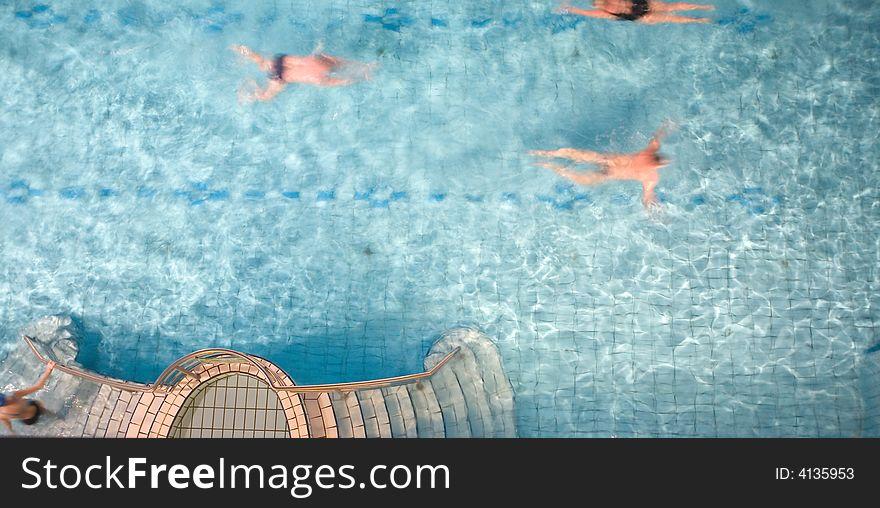 Morning swim in the public baths