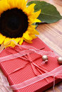 Free Sunflower, Butterfly And A Red Box Royalty Free Stock Image - 4140986