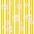 Free Yellow Pattern:daisies Stripes Stock Photo - 4148070