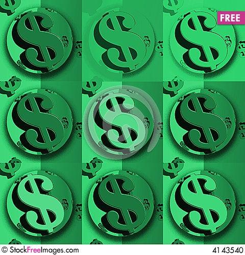 Free Dollar Green Dollar Sign Stock Photo - 4143540