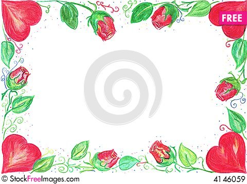 Valentine Card Border  Free Stock Images  Photos  4146059