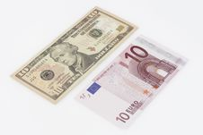Free Euros And Dollars Royalty Free Stock Image - 4140636