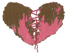 Free Heart From A Paper With A Pink Tape Stock Photo - 4140850