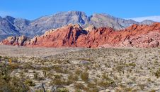 Free View Of The Red Rock Canyon Royalty Free Stock Image - 4140926