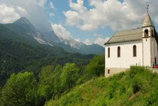 Church In The Italian Alps No.1 Royalty Free Stock Photo