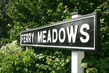 Ferry Meadows Sign Stock Photos