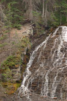 Free Maligne Canyon Waterfall Royalty Free Stock Image - 4141126