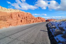 Free View Of The Red Rock Road Royalty Free Stock Photo - 4141715
