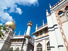 Free Sultan Mosque Royalty Free Stock Photos - 4142438