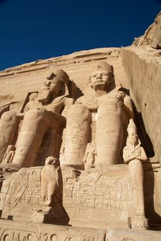 Free Pharaoh Sculpture Royalty Free Stock Photos - 4142708